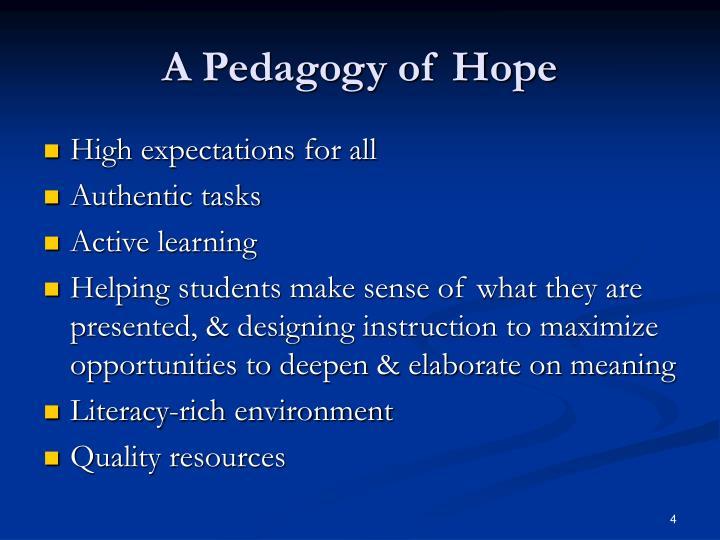 A Pedagogy of Hope