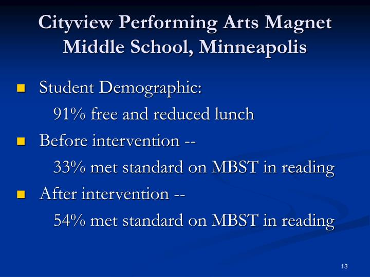 Cityview Performing Arts Magnet Middle School, Minneapolis