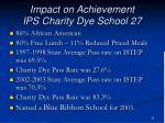impact on achievement ips charity dye school 27
