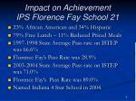 impact on achievement ips florence fay school 21