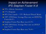 impact on achievement ips stephen foster k 8