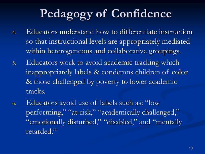 Pedagogy of Confidence