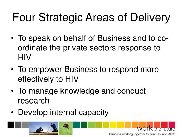Four Strategic Areas of Delivery