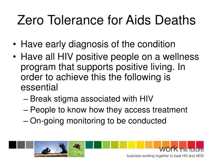 Zero Tolerance for Aids Deaths
