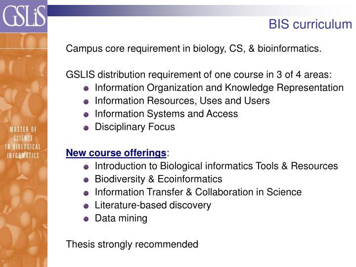 BIS curriculum