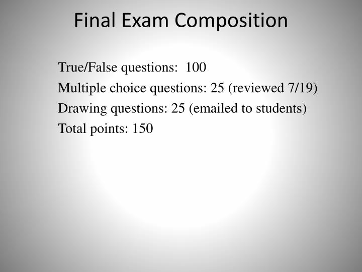 Final Exam Composition