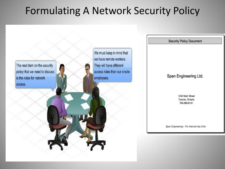 Formulating A Network Security Policy