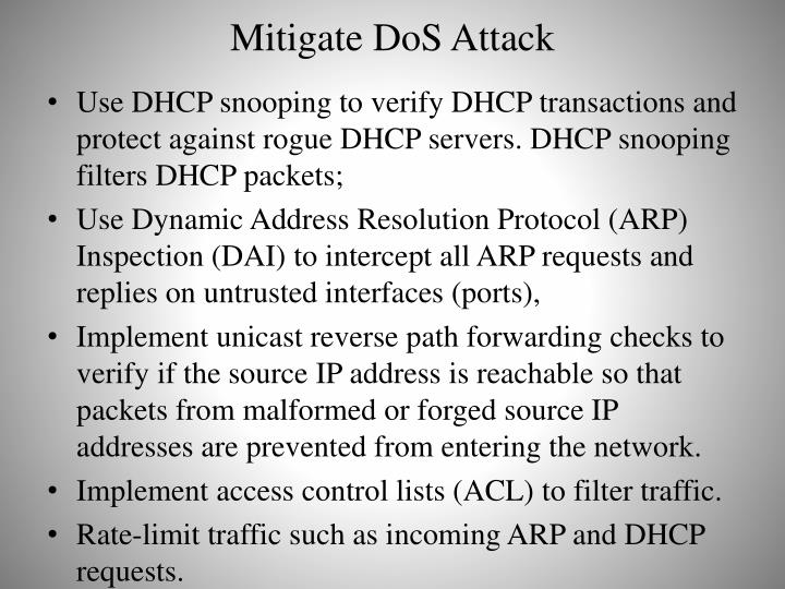Mitigate DoS Attack
