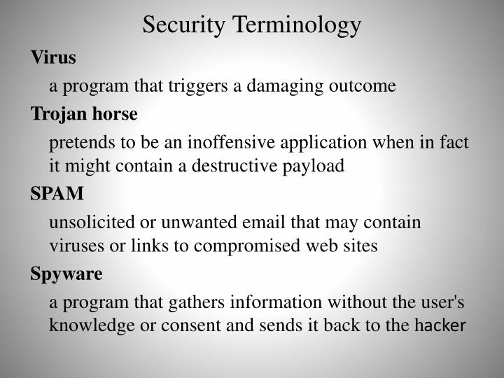 Security Terminology