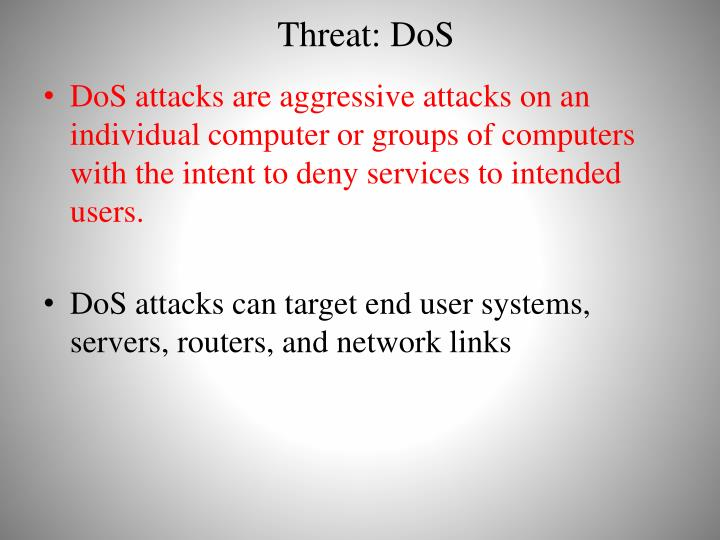 Threat: DoS