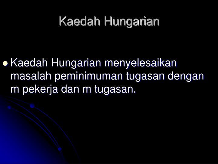 Kaedah Hungarian