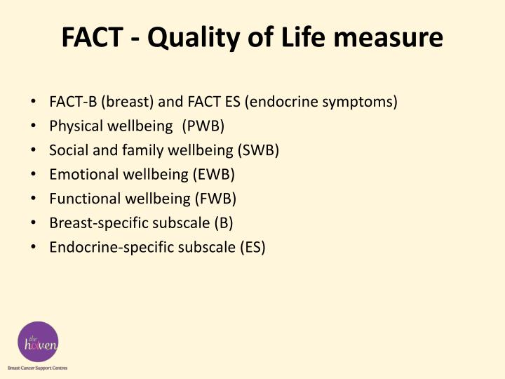 FACT - Quality of Life measure