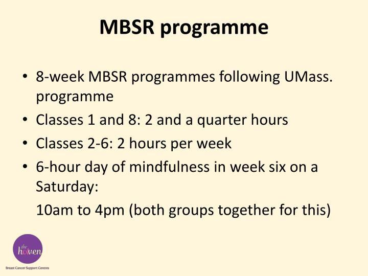 MBSR programme