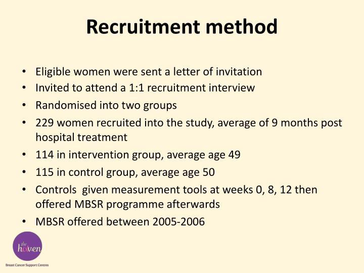 Recruitment method