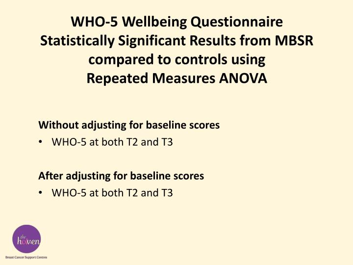 WHO-5 Wellbeing Questionnaire