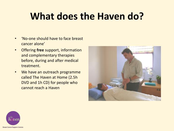 What does the Haven do?