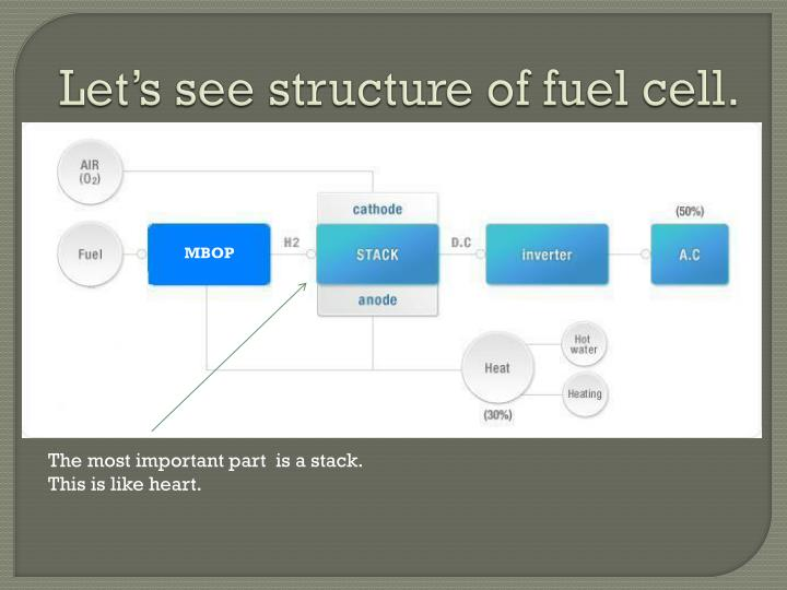 Let's see structure of fuel cell.