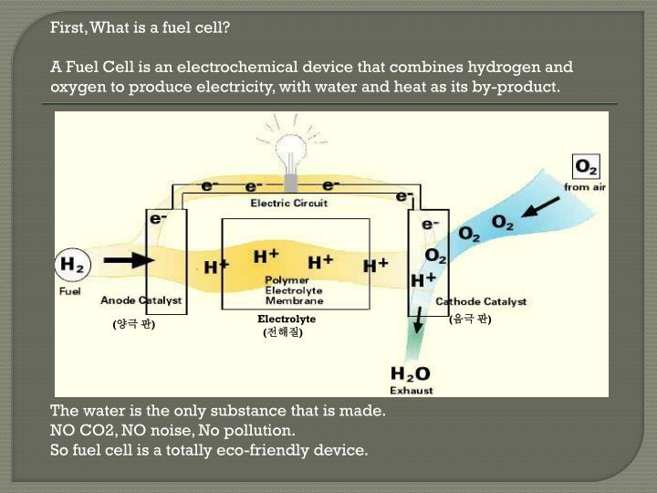 First, What is a fuel cell?