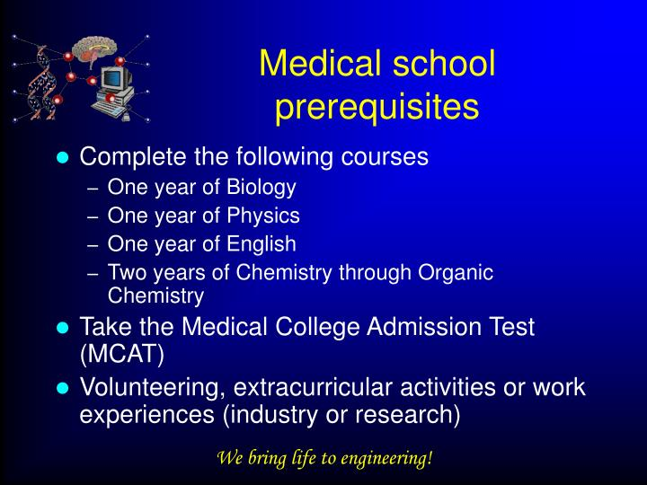 Medical school prerequisites