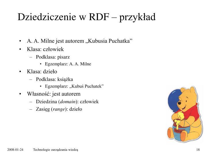 Dziedziczenie w RDF – przykład