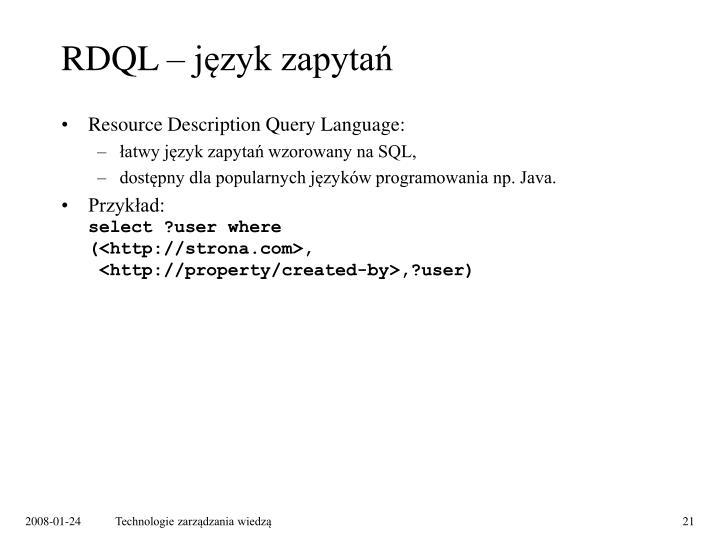 RDQL – język zapytań