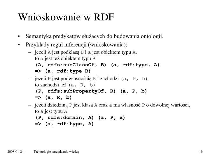 Wnioskowanie w RDF