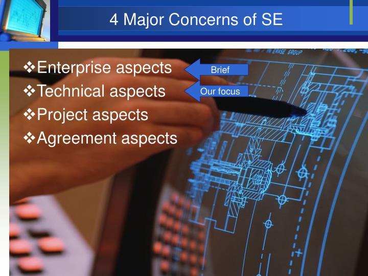 4 Major Concerns of SE