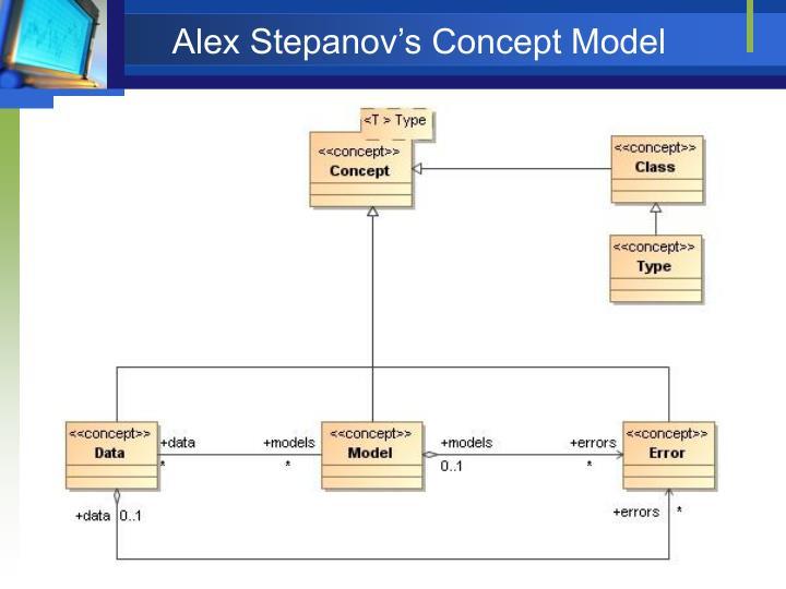 Alex Stepanov's Concept Model