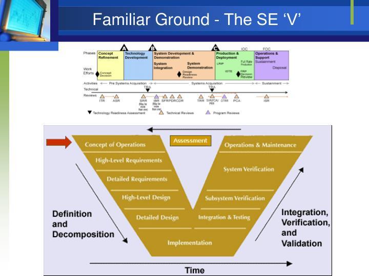 Familiar Ground - The SE 'V'