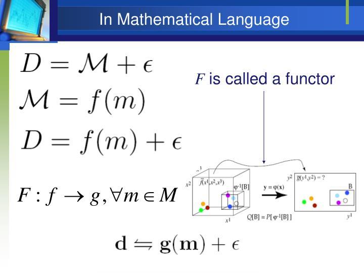 In Mathematical Language