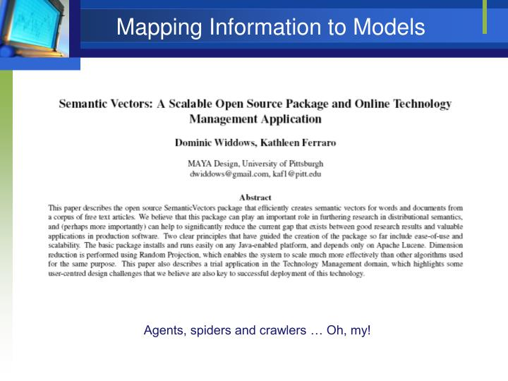 Mapping Information to Models
