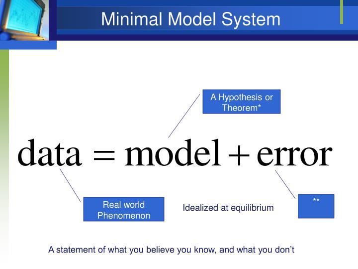 Minimal Model System