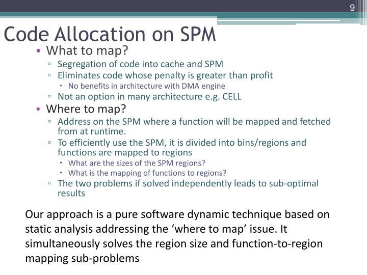 Code Allocation on SPM