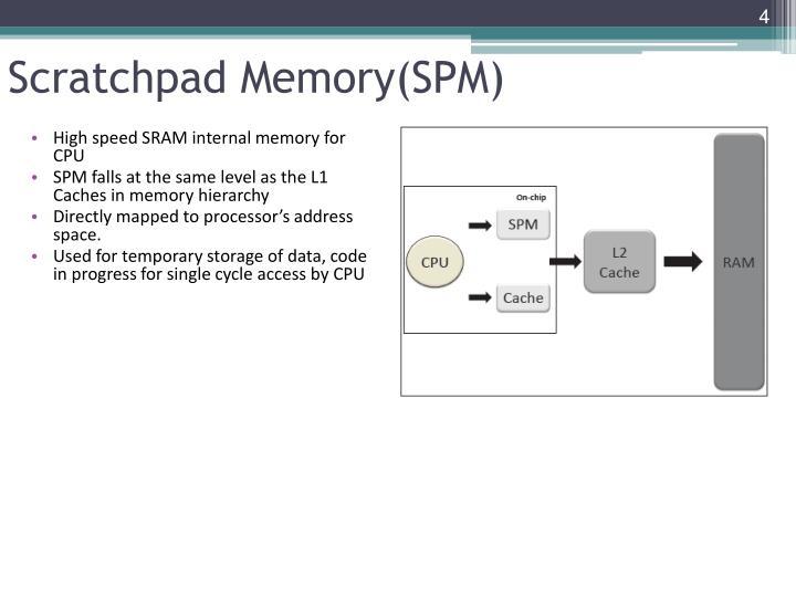 Scratchpad Memory(SPM)