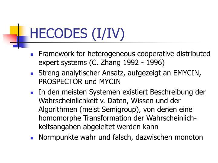 HECODES (I/IV)