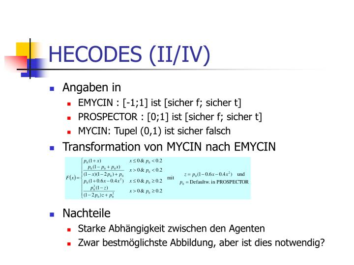 HECODES (II/IV)