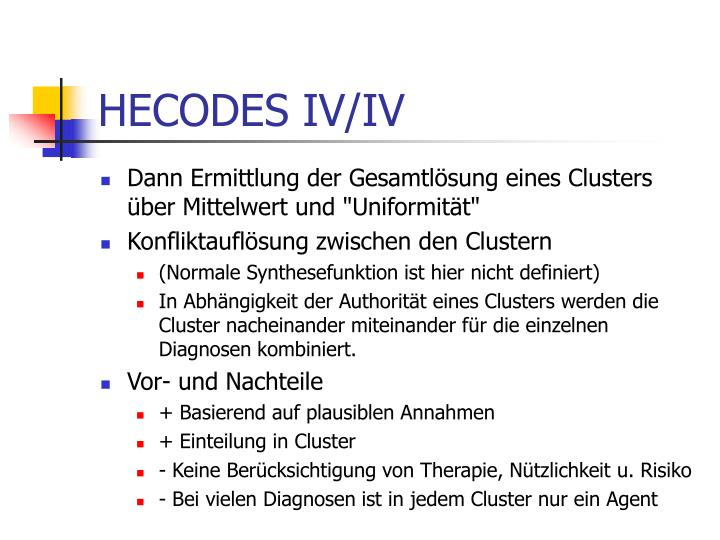 HECODES IV/IV
