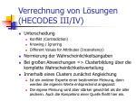 verrechnung von l sungen hecodes iii iv
