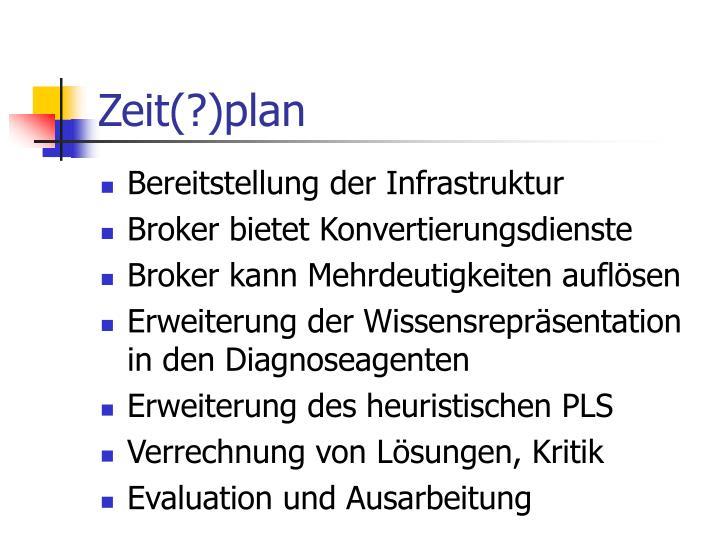 Zeit(?)plan