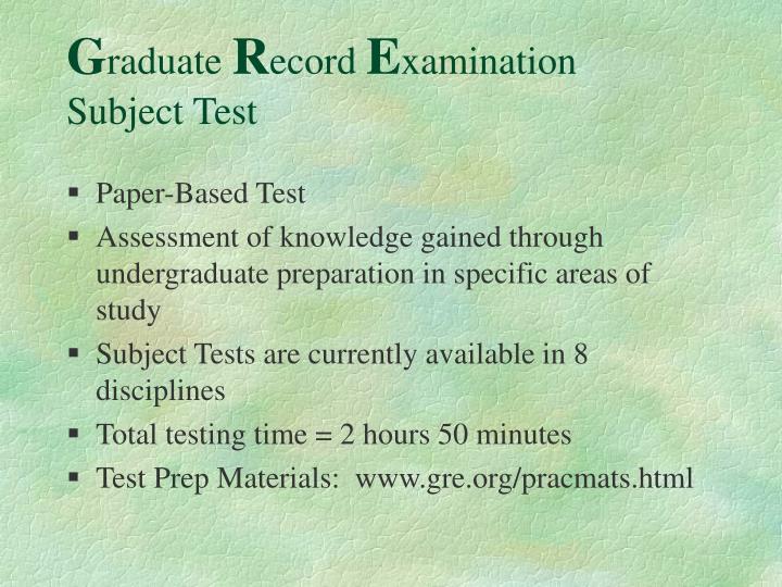 Paper-Based Test