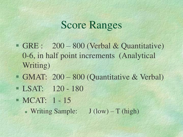 Score Ranges