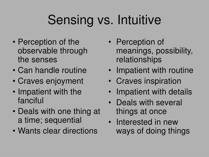 Perception of the observable through the senses