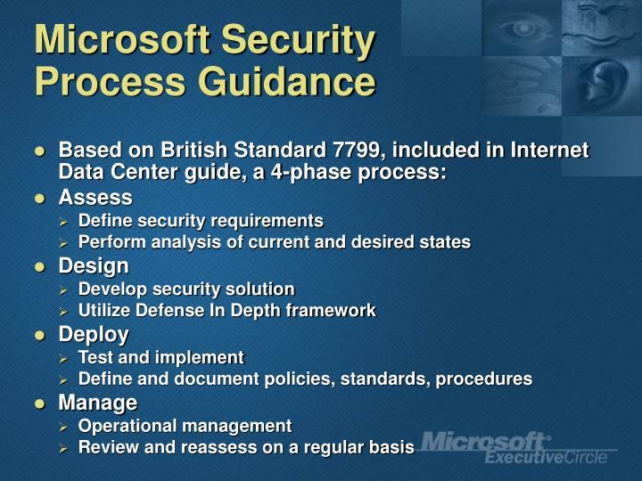 Microsoft Security Process Guidance