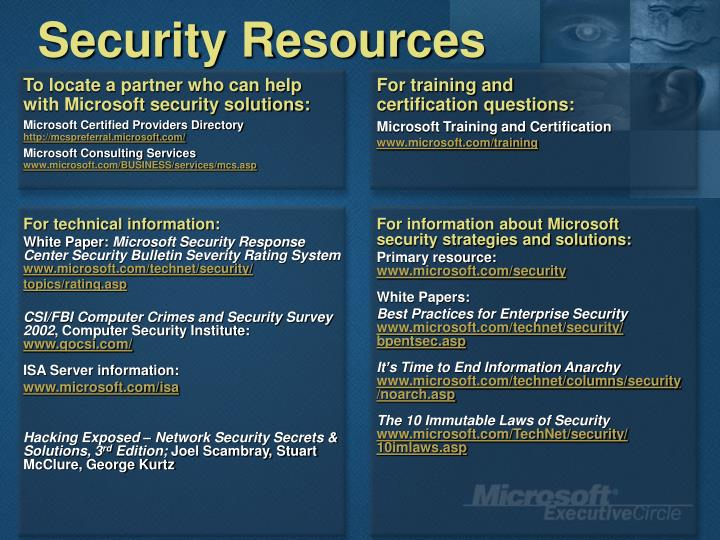 Security Resources