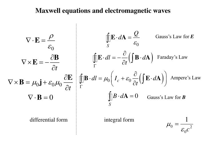 Maxwell equations and electromagnetic waves
