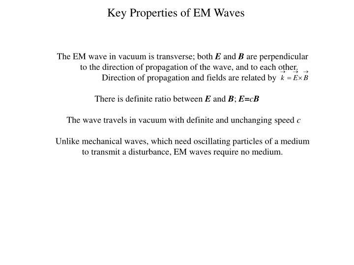 Key Properties of EM Waves