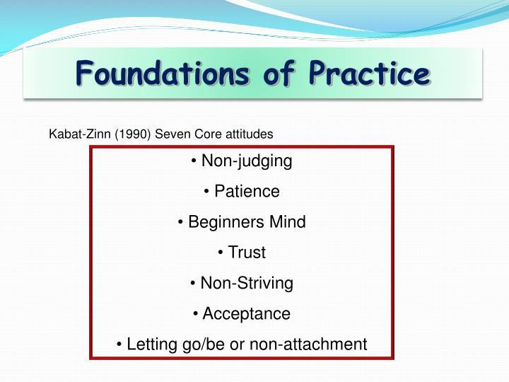 Foundations of Practice