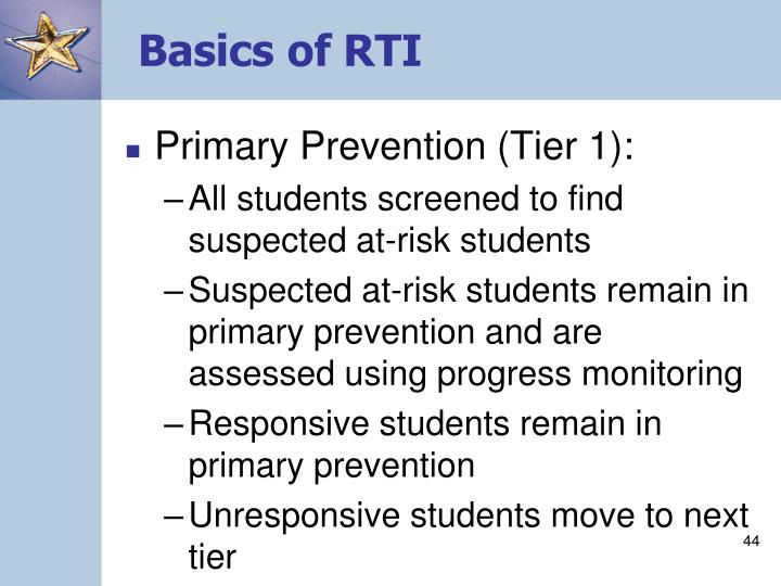 Basics of RTI