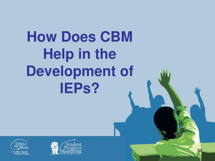 How Does CBM Help in the Development of IEPs?