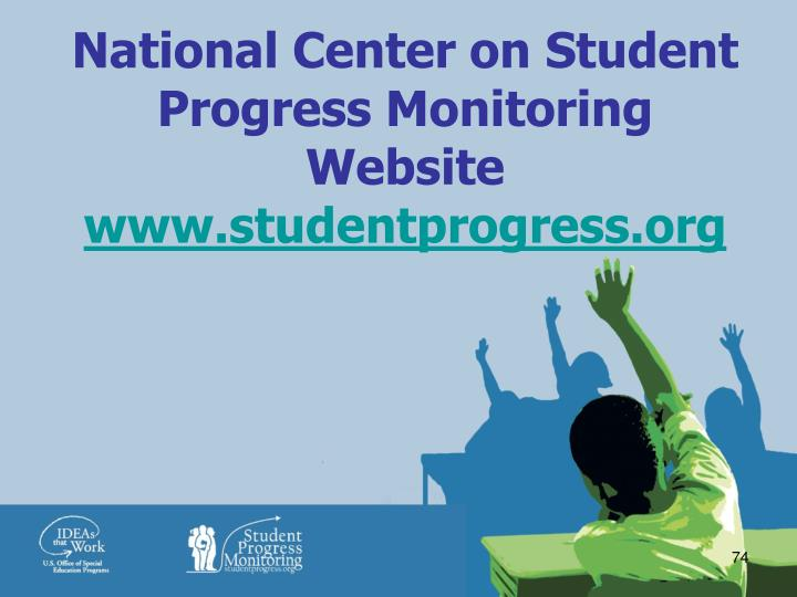 National Center on Student Progress Monitoring Website